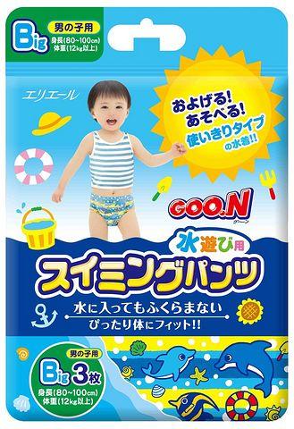 GOO.N 大王 婴儿游泳纸尿裤 男宝宝L码 3枚装
