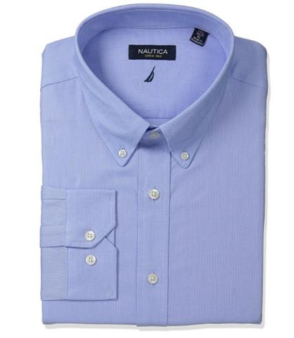 Nautica 诺帝卡 Solid Oxford Button-Down 男士衬衫
