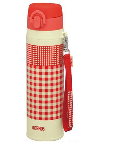 THERMOS 膳魔师 真空断热不锈钢保温杯 JNT-550 R-OR  粉红格子 550ml
