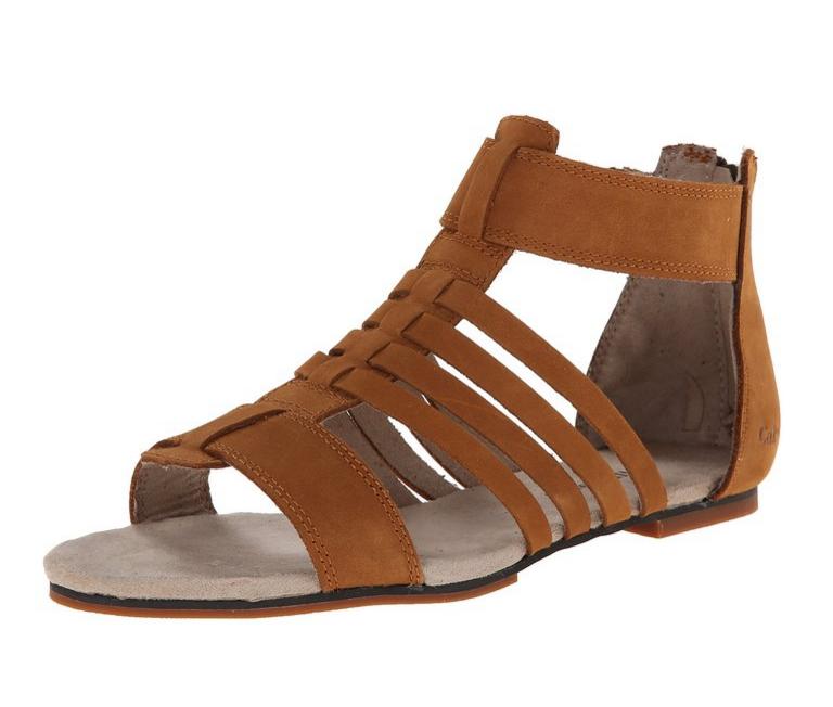 CAT 卡特彼勒 Tanga Gladiator 女士真皮凉鞋