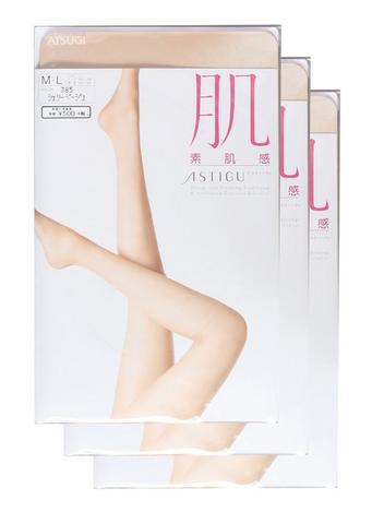 ATSUGI 厚木 肌系列 自然素肌感 连裤丝袜 3双装