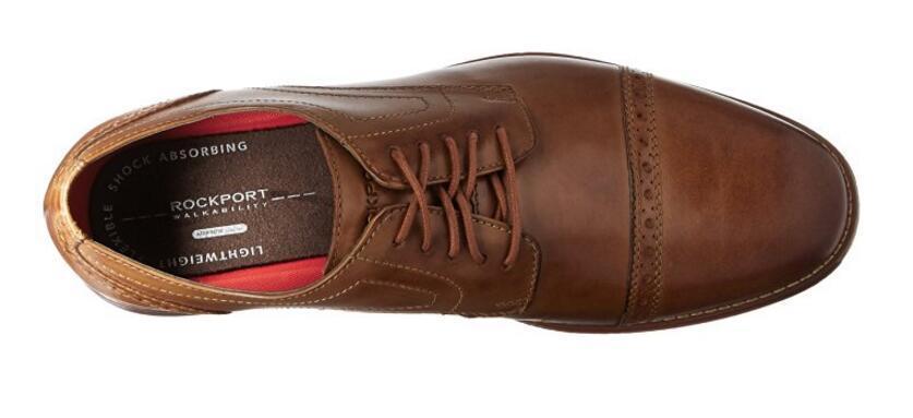 ROCKPORT 乐步 Room Cap 男士雕花正装皮鞋