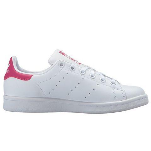 adidas 阿迪达斯 Stan Smith 大童款休闲运动鞋 粉尾
