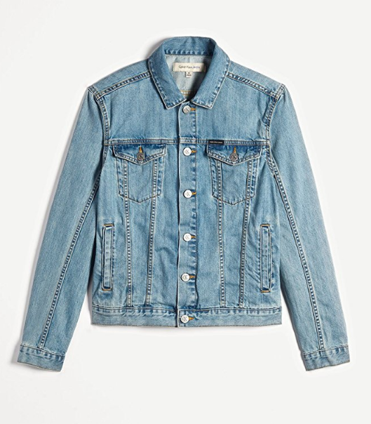 Calvin Klein Jeans Rinse Wash Denim Trucker 男士牛仔外套