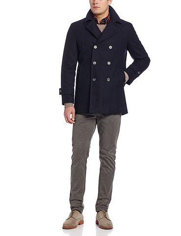 TOMMY HILFIGER Brady 男款双排扣羊毛混纺外套