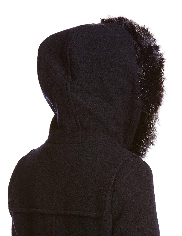 snidel 牛角扣毛领连帽大衣 深蓝色