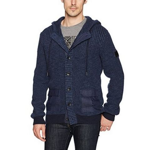Calvin Klein Jeans 男士带帽针织衫