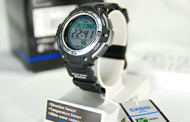 CASIO 卡西欧 SGW100-1V Twin Sensor 男士运动手表