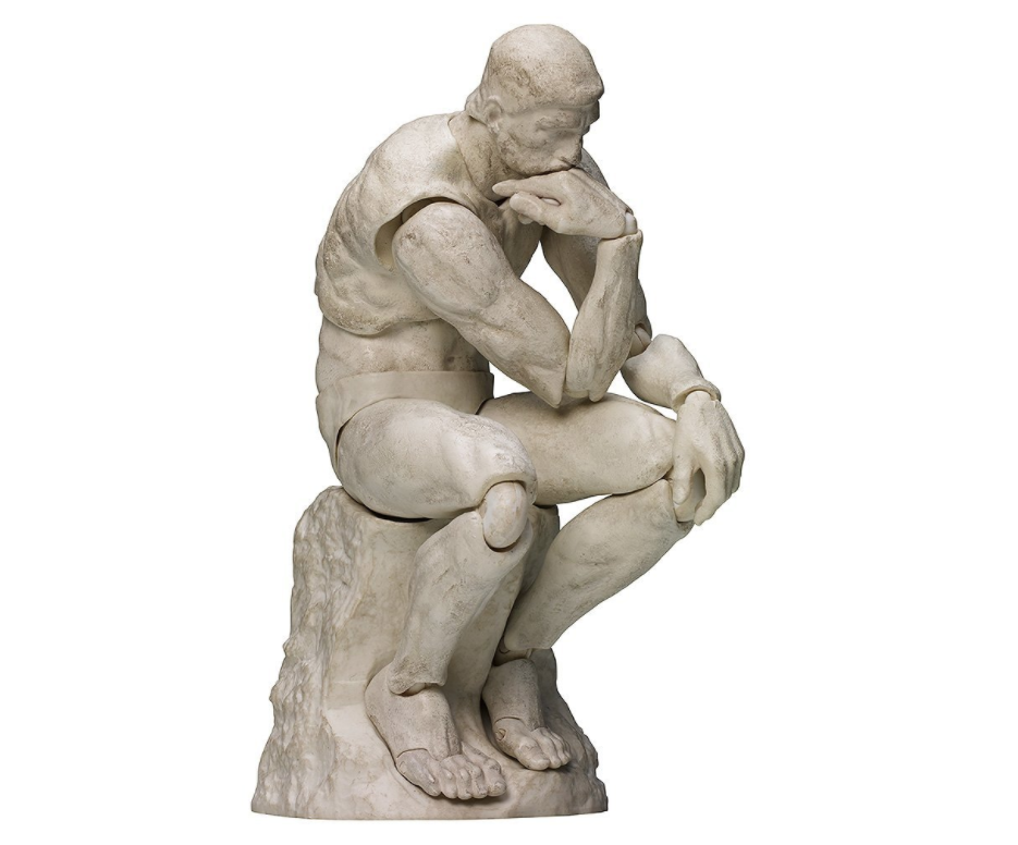 figma 桌上美术馆系列 思想者 石膏Ver. ABS &PVC 涂装完成可动手办
