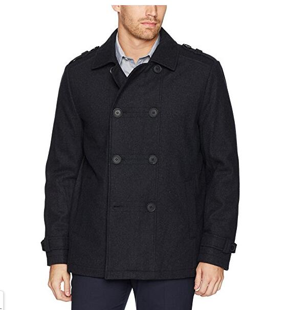 KENNETH COLE New York 男士双排扣羊毛大衣