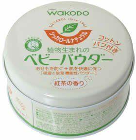 Wakodo 和光堂 天然綠茶 爽身粉 120g