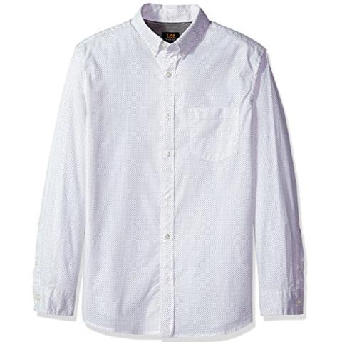 Lee 李 弹力梭织 男士波点衬衫