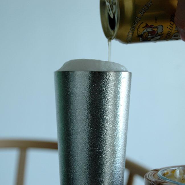 能作 100%纯锡手工酒杯 200ml 2件装