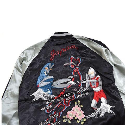 TENSTRIKE 円谷系列 奥特曼VS巴尔坦星人 50周年纪念 横须贺刺绣外套