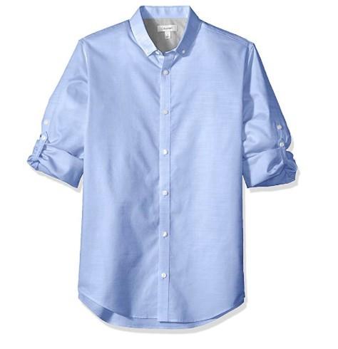 Calvin Klein Jeans 40H6380 男士卷袖衬衫