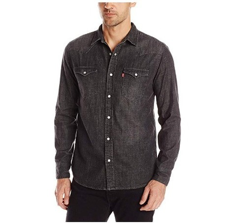 Levi's 李维斯 Standard Barstow Denim Western 男士牛仔衬衫