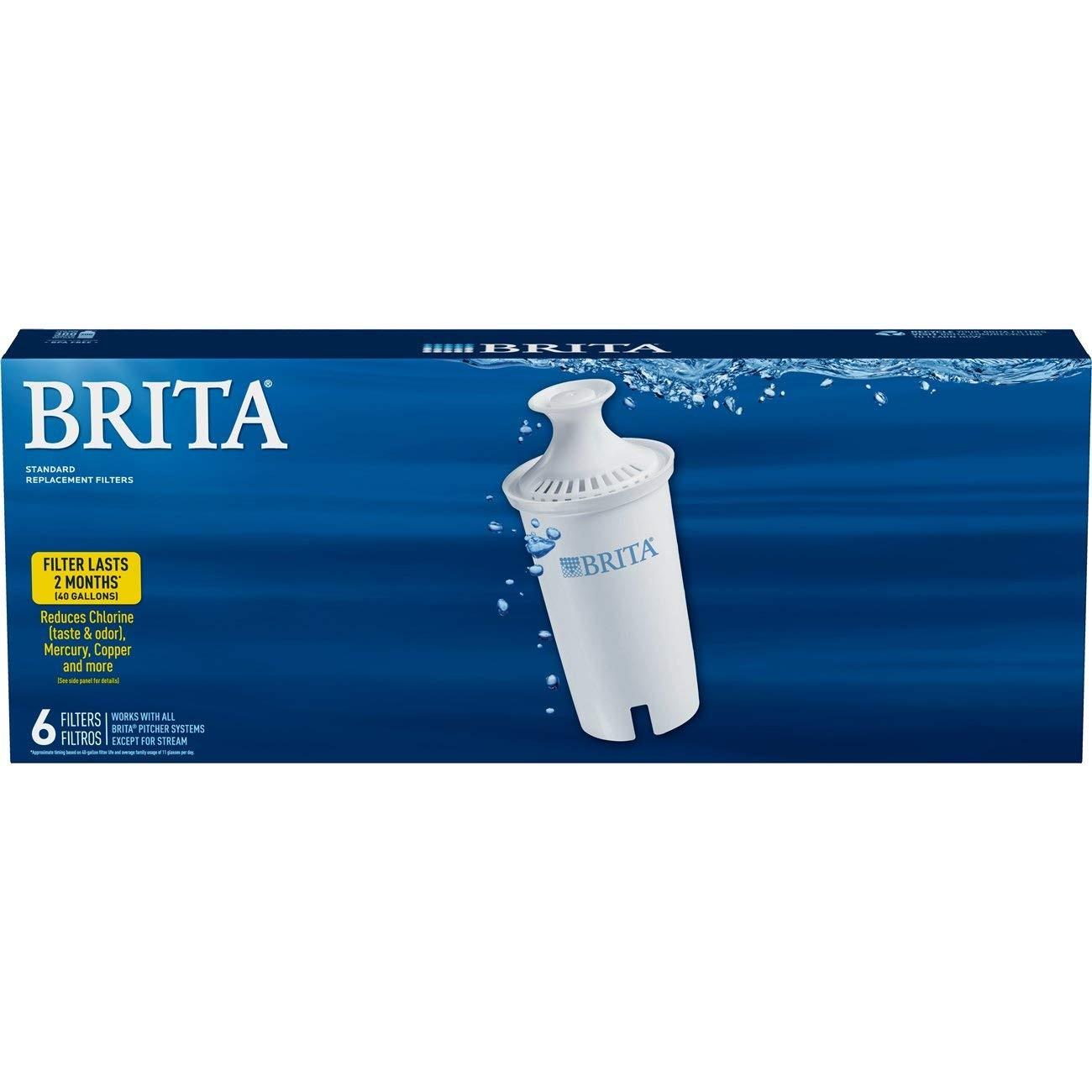 BRITA 碧然德  标准版 净水壶替换滤芯 6只装