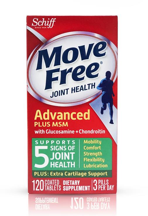 Schiff 维骨力 Move Free 氨基葡萄糖 关节养护素 绿色款 120粒 *3件