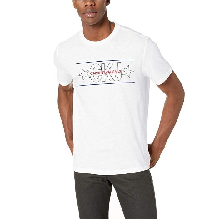 Calvin Klein 卡尔文·克莱 男士Logo T恤
