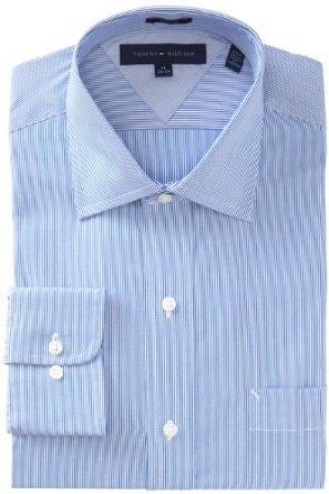 Tommy Hilfiger 男式修身细条纹衬衫