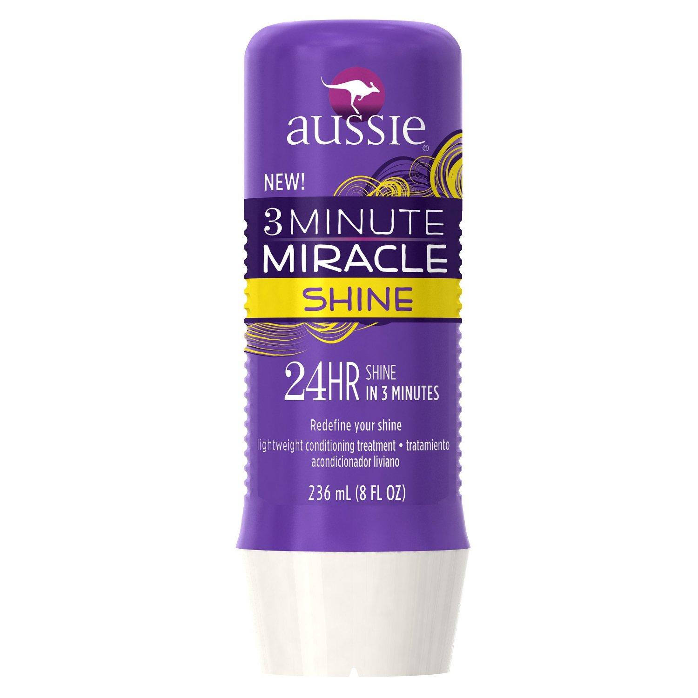 Aussie 三分钟闪亮奇迹护发发膜 8液体盎司。