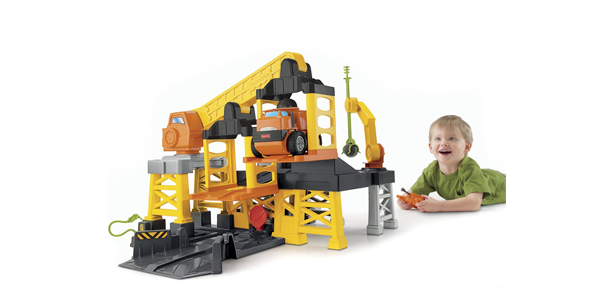 Fisher-Price 费雪 Big Action Construction Site 遥控装载机械平台