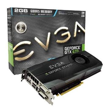 "EVGA GeForce GTX670 FTW""致胜版""超频显卡"