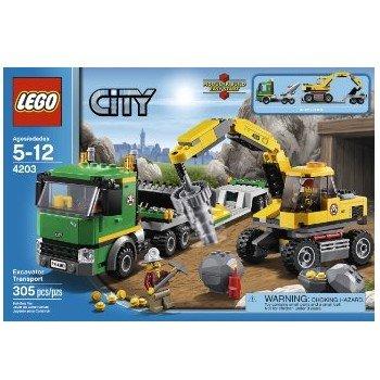 4.9折!乐高 4203 城市系列挖掘机和运输车