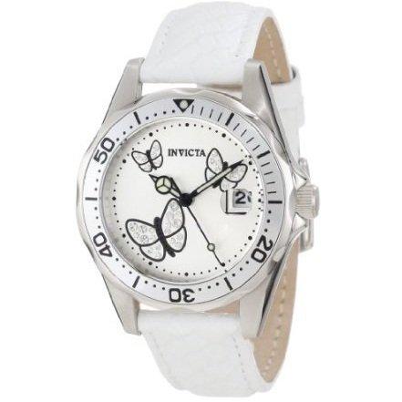 白菜价1折!Invicta 因维克塔女士 12833 Pro Diver 精美蝴蝶图案镶钻手表
