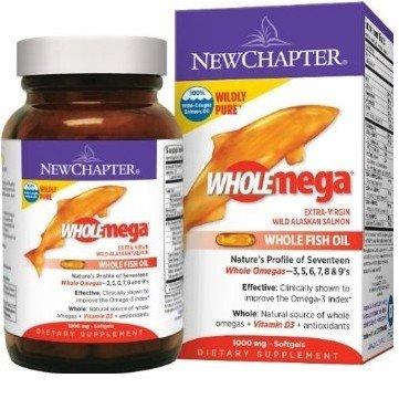 (加班白领必备)New Chapter Wholemega 1000mg天然野生三文鱼油 120粒
