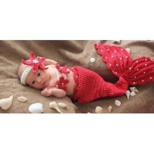 新生儿美人鱼宝宝照相服