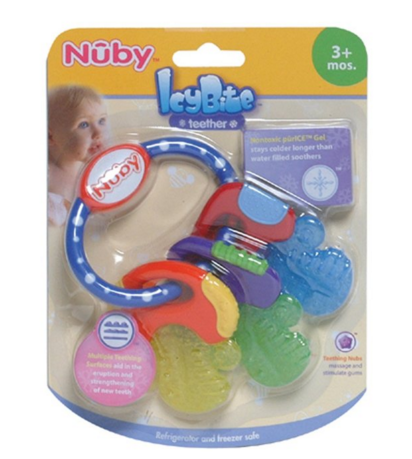 凑单品:Nuby 努比 Icybite 钥匙扣硅胶牙胶
