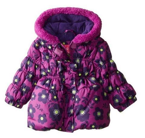 Pink Platinum 女童印花棉服外套