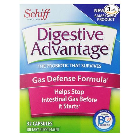 凑单品:Schiff Digestive Advantage Probiotics - Gas Defense Formula Probiotic 强化肠道健康消化益生菌胶囊 90粒