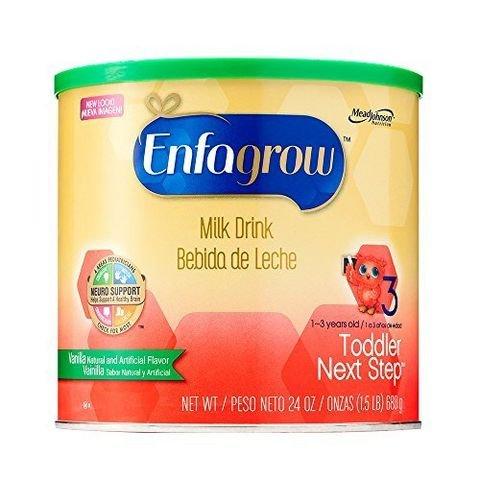 限prime会员:Enfagrow Toddler Next Step 美版奶粉 3段 (香草味) 680克*4桶