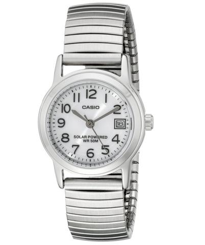 凑单品:CASIO 卡西欧 LTP-S100E-7BVCF 太阳能女士腕表
