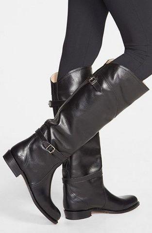 限7码:FRYE Dorado 女士真皮高筒靴