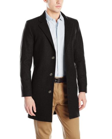 42码起,反季囤货:NAUTICA 诺帝卡 CC Wool Blend 男士羊毛混纺大衣