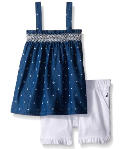 凑单品:NAUTICA 诺帝卡 女童印花裙套装