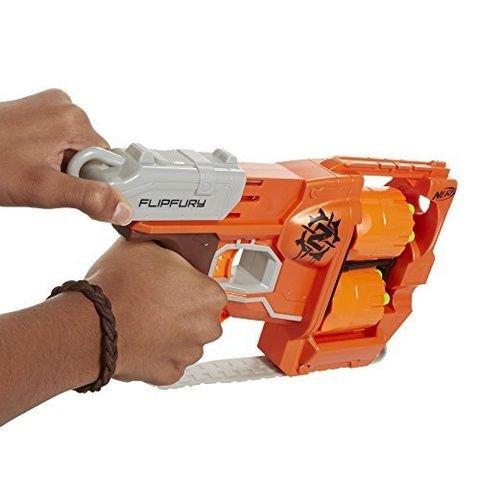 Hasbro 孩之宝 Nerf Zombie Strike 僵尸来袭系列 A9603 FlipFury Blaster 双轮发射器