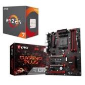 AMD Ryzen 锐龙 7 1700X CPU处理器 + MSI 微星 X370 Gaming Plus 主板 套装 $299.98(约1,913元)