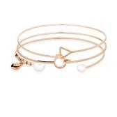 【买3付2】August Woods 玫瑰金色珍珠手环套装 £8(约68元)