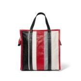 【NET-A-PORTER.COM 独家发售】BALENCIAGA Bazar 条纹纹理皮革小号手提包 £579(约4,951元)