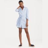 POLO RALPH LAUREN Striped Cotton Shirtdress 拉夫劳伦 条纹衬衫裙 $139.99(约894元)