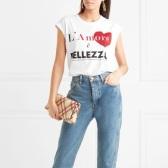 【热巴秀场同款】DOLCE & GABBANA 18年秀场印花纯棉平纹针织 T 恤 $177(约1,139元)