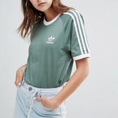 Adidas Originals 3 Stripe T-Shirt 阿迪达斯 女士 短袖 £24.95(约220元)