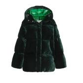 反季囤~MONCLER 孔雀绿色天鹅绒羽绒夹克 £1,550(约13,550元)