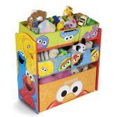 包邮0税!【中亚Prime会员】Delta Children 宝宝玩具收纳柜 芝麻街款 到手价318元