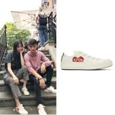 欧阳娜娜同款 Comme des Garçons Play Converse Edition 白色帆布鞋 $135(约927元)