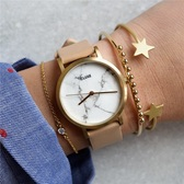 CLUSE 大理石纹裸粉色表带女士时装腕表 CL40101 £75.05(约669元)